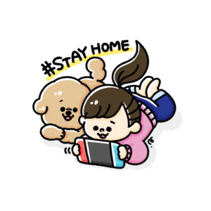 #STAY HOME(トイプードル)